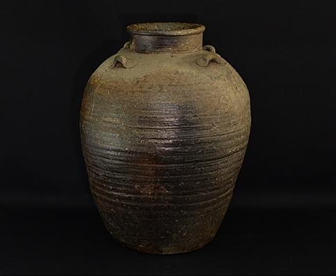 古備前 鎌倉時代 四耳壺