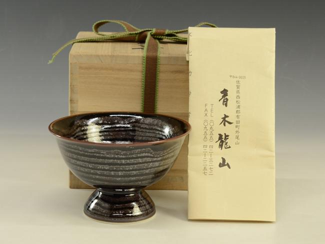青木龍山 天目茶碗