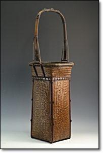 竹製 花入 籠