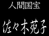 佐々木苑子 人間国宝 紬織