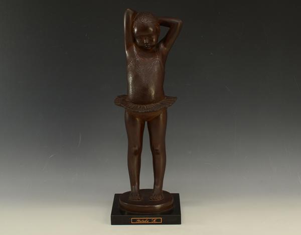加藤豊 我家のプリマ ブロンズ像