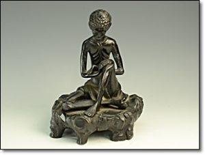 銅製品 やせ仏 苦行像