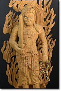 不動明王 木彫り