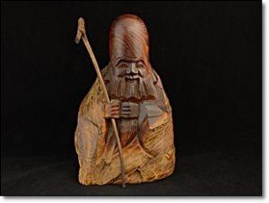 木彫り 寿老人