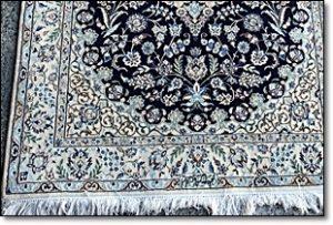 ペルシャ絨毯 シルク ブルー