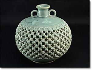 朝鮮 青磁 花瓶