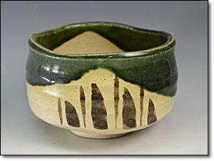織部焼 茶碗