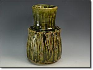 織部焼 花瓶
