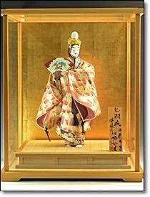 骨董 日本人形 ガラスケース
