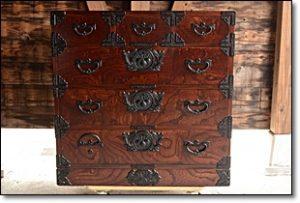 欅 民芸箪笥