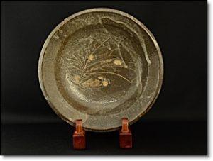 鼠志野 蕪絵鉢