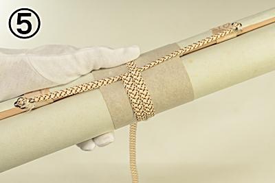 掛軸 巻き方 巻緒 紐