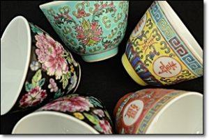 中国 粉彩茶碗 煎茶道具