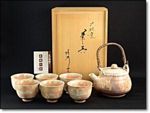萩焼 茶器 急須 茶碗 椿秀