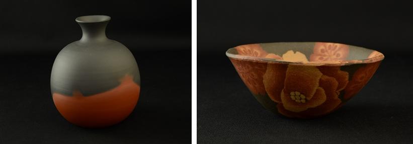花瓶 茶碗 伊藤赤水