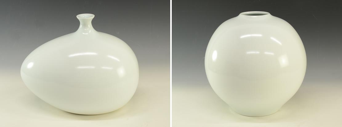 人間国宝 前田昭博 花瓶 白磁