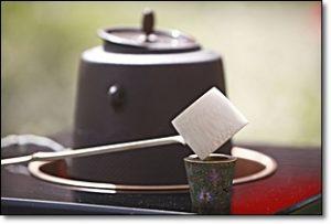茶道具 柄杓 釜